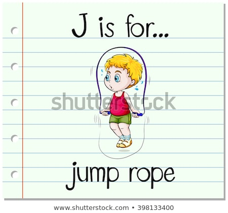 Flashcard letter J is for jumping Stock photo © bluering