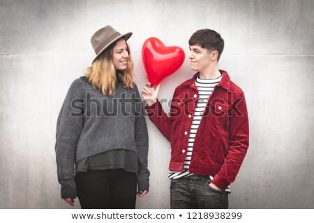 Teen lovers portrait Stock photo © IS2