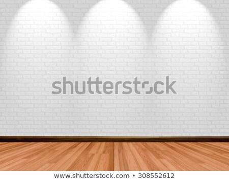 ストア 木製 ショーケース レンガ ビジネス テンプレート ストックフォト © romvo