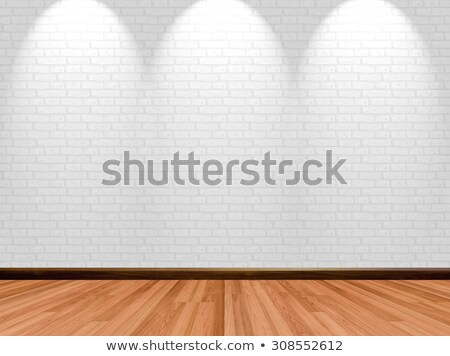 Store wooden showcase brick background Stock photo © romvo