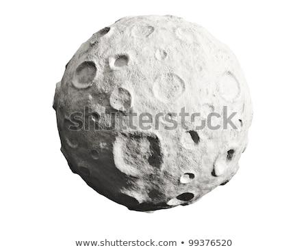 asteroid moon isolated on white background Stock photo © studiostoks