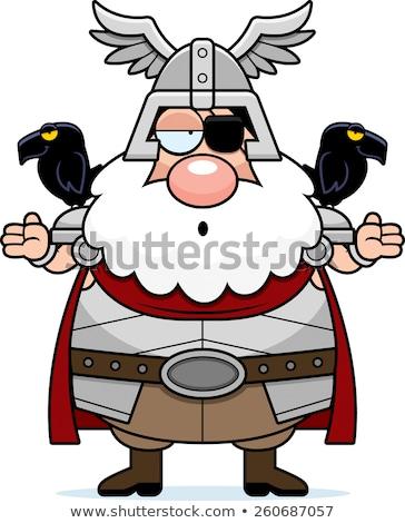 Confused Cartoon Odin Stock photo © cthoman