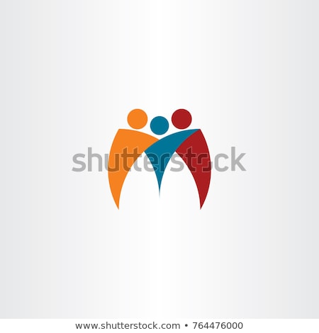 Foto stock: Logotipo · pessoas · de · negócios · equipe · amigos · vetor