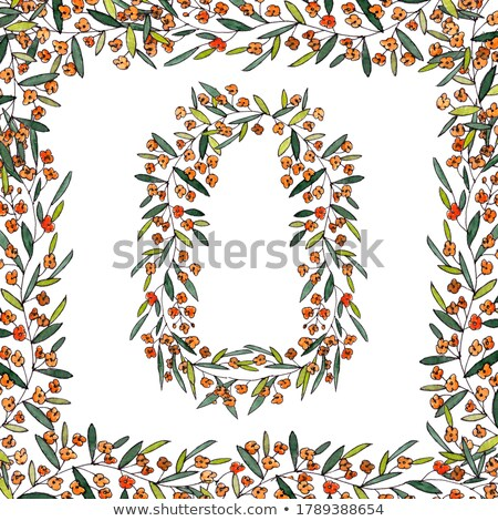 Decorative frame from spring flowers on a color background of the year 2019 Living Coral Pantone. Mo Stock photo © artjazz