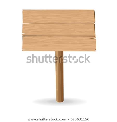 fából · készült · üres · tábla · posta · fa · tábla · sok · irányok - stock fotó © unikpix