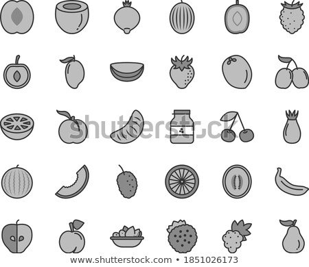 Plátano fresa cereza naranja manzana gris Foto stock © Natali_Brill