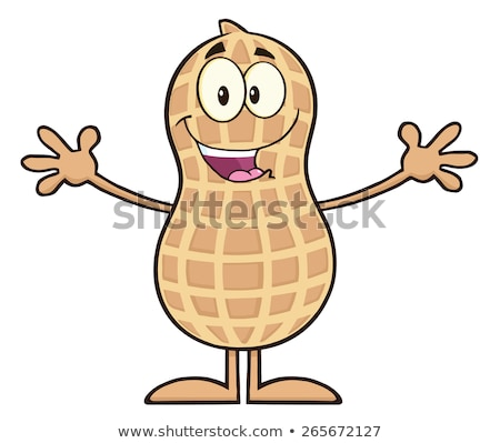 Funny Peanut Cartoon Character Wanting For Hug Stock photo © hittoon