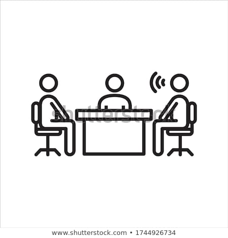 Business Meeting, Conference of Partners Vector Stock photo © robuart