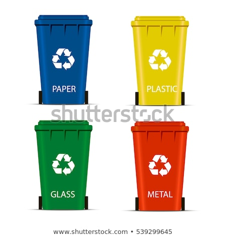 vector flat recycling wheelie bin Stock photo © freesoulproduction