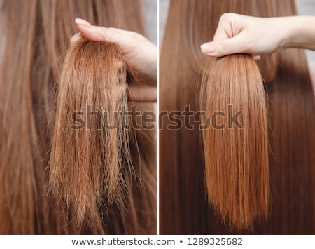 Hair Before And After Keratin Care Stock photo © AndreyPopov