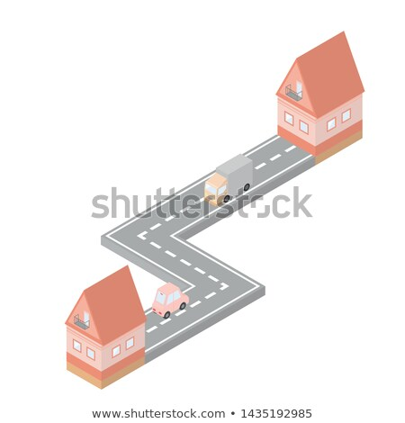 Cargo Delivery Truck Moving House Vector Image Stock photo © robuart
