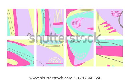 Amusement dessinés à la main coloré doodle objets Photo stock © cosveta
