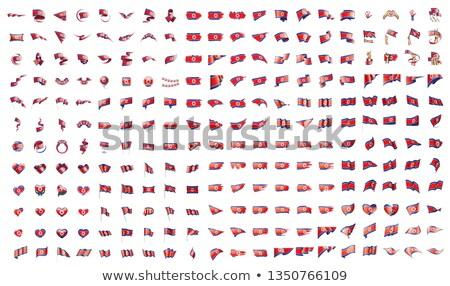 Nagy gyűjtemény vektor zászlók észak világ Stock fotó © butenkow