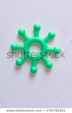 Zöld műanyag modell fehér copy space koronavírus Stock fotó © Giulio_Fornasar