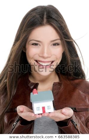 Huiseigenaar kopen eerste huis gelukkig asian Stockfoto © Maridav