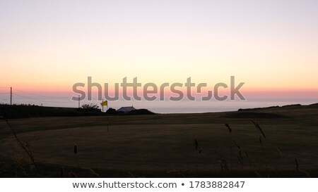 Gün batımı okyanus deniz cornwall gökyüzü Stok fotoğraf © latent