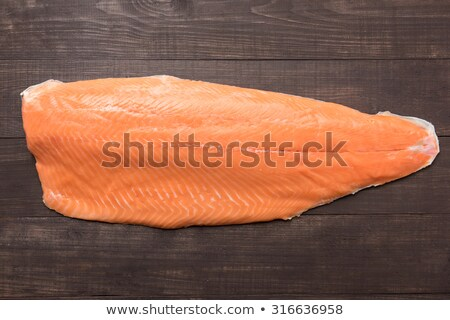 filet trout isolated Stock photo © M-studio