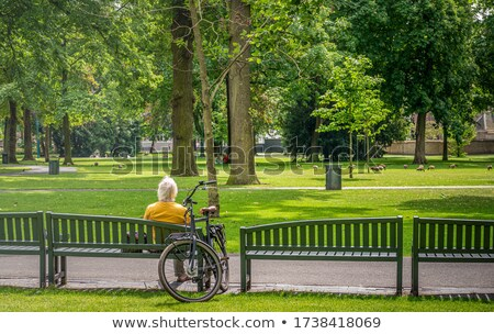 old bench in the city Stock photo © cozyta
