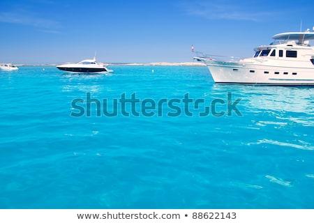 luxury yacht in turquoise Illetes Formentera Stock photo © lunamarina