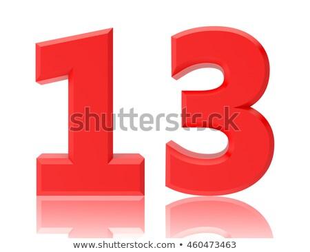 赤 番号 13 反射 白 デザイン ストックフォト © Zerbor