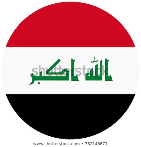Irak vlag icon geïsoleerd witte internet Stockfoto © zeffss