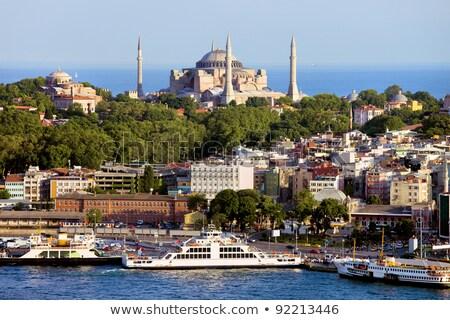 külső · kilátás · mecset · Isztambul · belső · kupola - stock fotó © bloodua