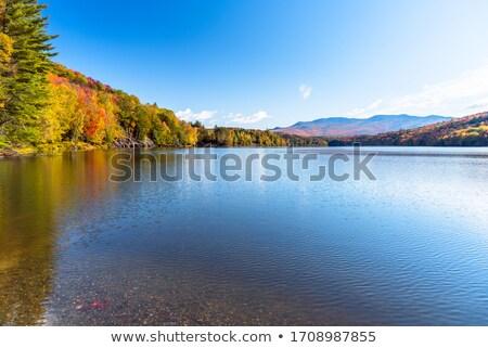 Tó Vermont kicsi hegy víz zöld Stock fotó © Hofmeester