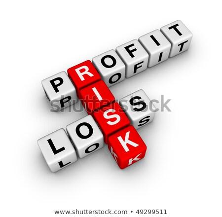 risk; profit and loss Stock photo © flipfine