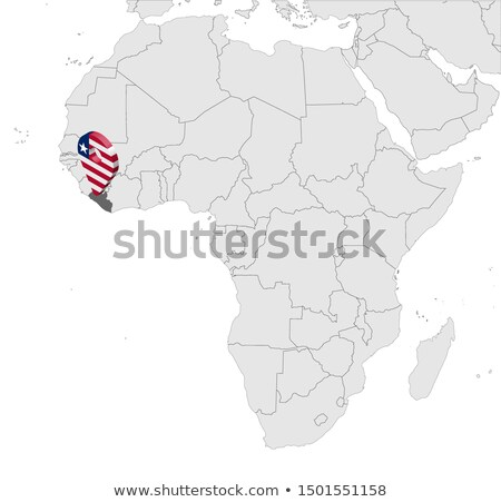 High detailed vector map of Liberia with navigation pins. Stock photo © tkacchuk