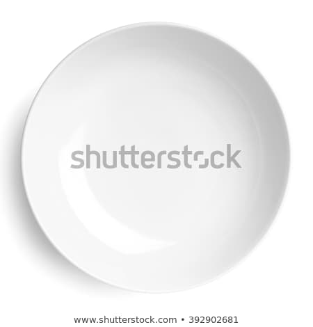 villa · kés · üres · fehér · tányér · izolált - stock fotó © grafvision