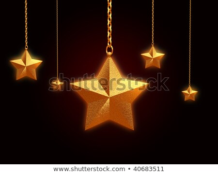 3d Golden Star With Chains And Lights Stockfoto © marinini