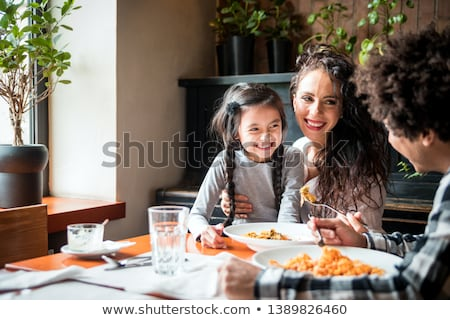 familie · diner · ontbijt · huis · vrouwen · hart - stockfoto © Paha_L