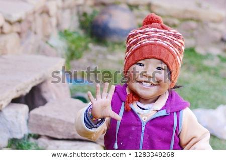 cute peruvian children stock photo © adrenalina