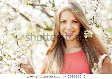 Belleza agradable maquillaje mujer sonrisa Foto stock © Elnur
