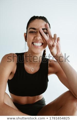 fiatal · gyönyörű · sportos · nő · férfi · izolált - stock fotó © deandrobot