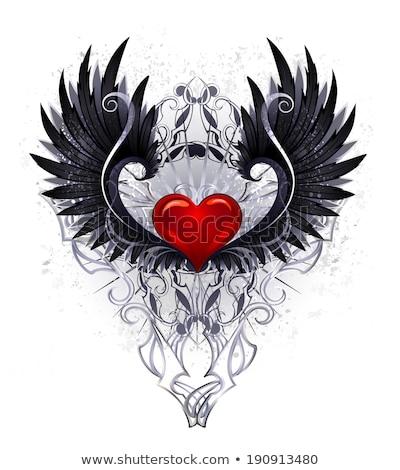 темно ангела сердце красный черный Сток-фото © blackmoon979
