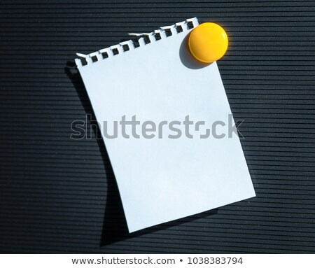 Blank memo or note with thumb tacks or magnets Stock photo © adrian_n