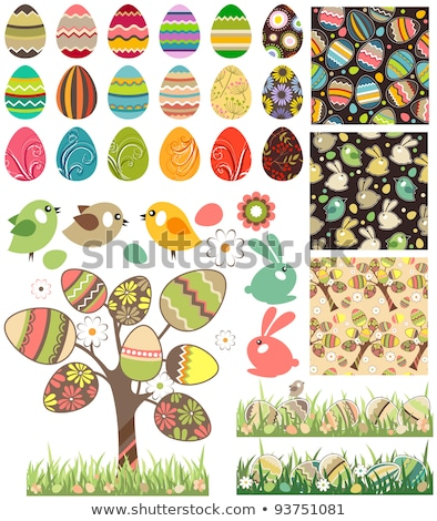 Seamless pattern with easter 2 Stock photo © Olena