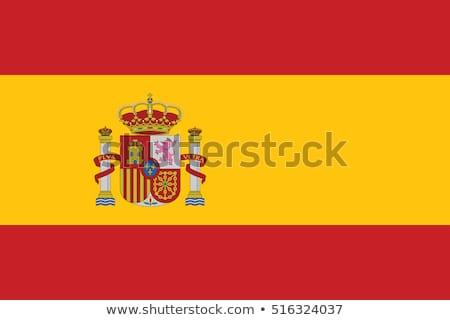 Hiszpania banderą biały projektu podpisania podróży Zdjęcia stock © butenkow