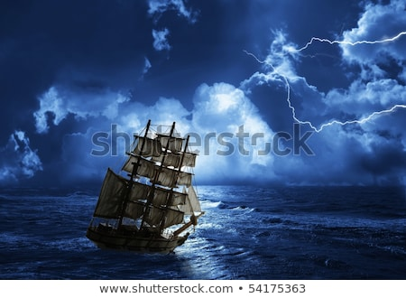 sailing ship in sphere stock photo © milsiart