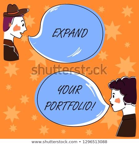 expand your horizons   business concept on speech bubble stock photo © tashatuvango