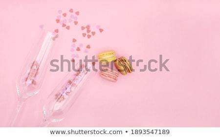 элегантный стекла Розовые розы шампанского клубника Top Сток-фото © DenisMArt