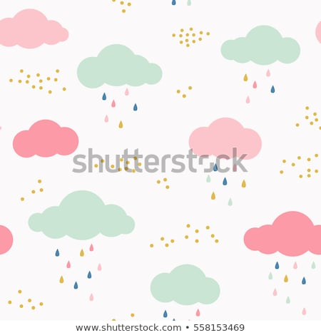Seamless vector pattern with colorful raindrops Stock photo © Pravokrugulnik