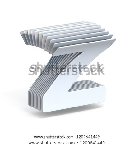 Curved paper sheets Letter Z 3D Stock photo © djmilic
