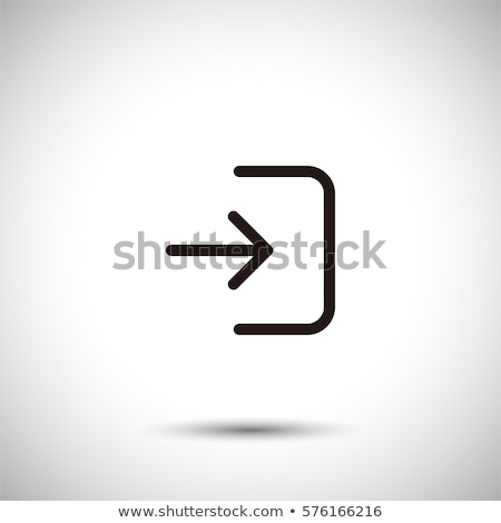 Input or login icon isolated sign symbol and flat style for app, web and digital design. Vector illu Stock photo © kyryloff