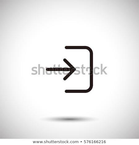 Inloggen icon geïsoleerd teken symbool stijl Stockfoto © kyryloff