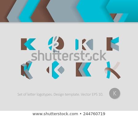 stylized k vector logo icon letter k logotype Stock photo © blaskorizov
