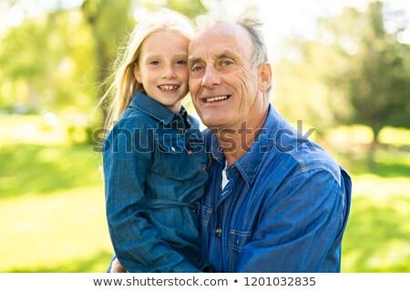 Dziadek parku znajomych relaks starszych Zdjęcia stock © Lopolo