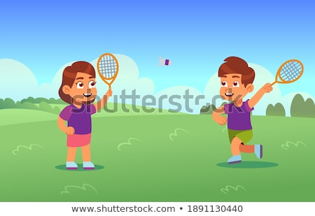 Team of People Playing Tennis Outdoors in Park Stock photo © robuart