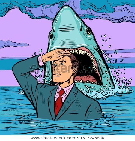A successful businessman is not afraid of a shark attack Stock photo © studiostoks